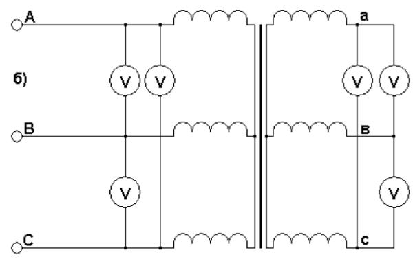 Схема проверки коэффициента трансформации