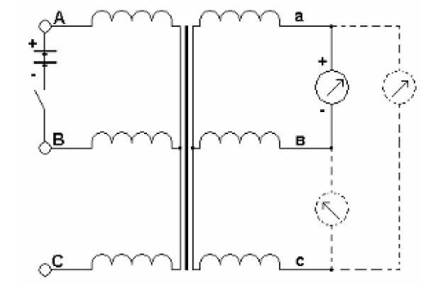 Схема определения групп соединений обмоток